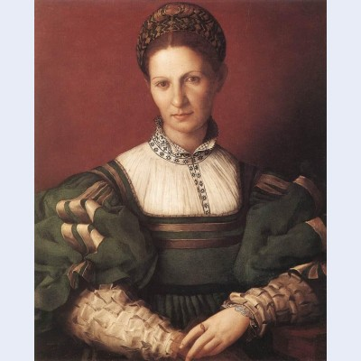 Portrait of a lady in green