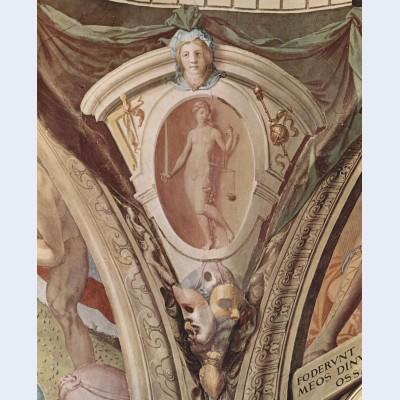Scenes of allegories of the cardinal virtues
