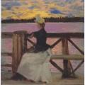 Marie gall n at the kuhmoniemi bridge