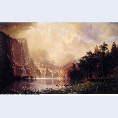 Among the sierra nevada mountains california 1868