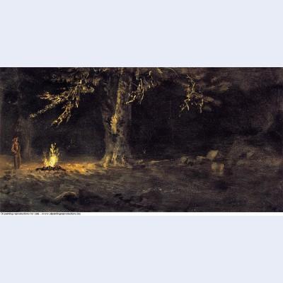 Campfire yosemite valley