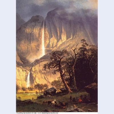 Cho looke the yosemite fall 1864