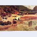 Fishing boats at capri 1857
