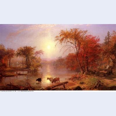 Indian summer hudson river 1861