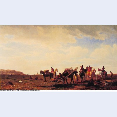 Indians travelling near fort laramie 1861