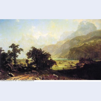 Lake lucerne switzerland 1858
