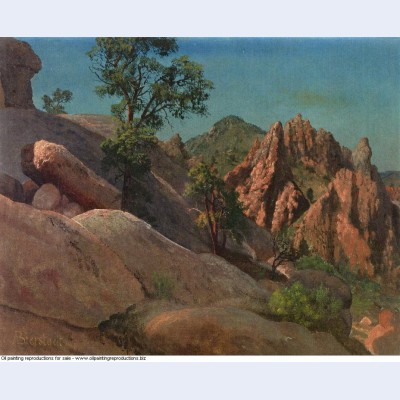 Landscape study owens valley california 1872