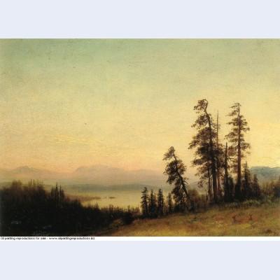 Landscape with deer 1876