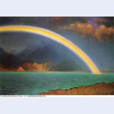 Rainbow over jenny lake wyoming