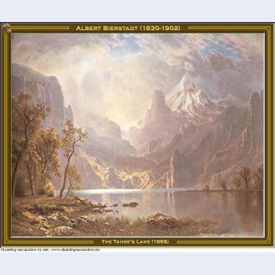 The tahoe s lake 1868
