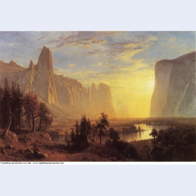 Yosemite valley yellowstone park 1868