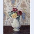 Bouquet de roses dans un vase