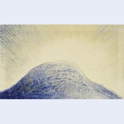 Blaue bergkuppe