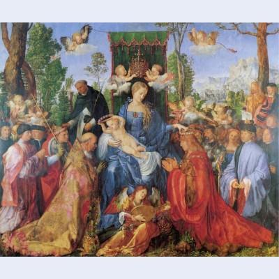 The lady of the festival du rosaire