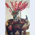 Gladioli with rowan
