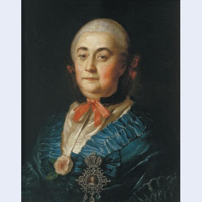 Portrait of the lady in waiting a m izmaylova
