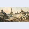 Church of st john the baptist borovitskaya tower and stablings prikaz department in the kremlin
