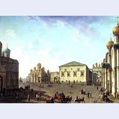 The annunciation cathedral and faceted palace