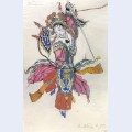 Dancer in the procession of the chinese emperor costume design for stravinsky s opera