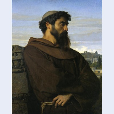 A thinker a young roman monk