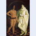 Self portraits harlequin and pierrot with vasiliy shukhaev