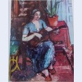 Woman with guitar 2