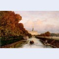 View to michael s castle in petersburg from lebiazhy canal