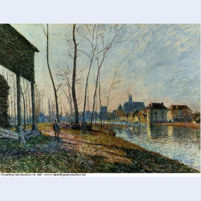 A february morning at moret sur loing 1881