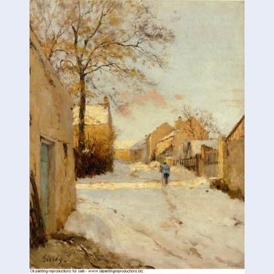 A village street in winter 1893