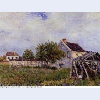 An old cottage at sablons 1885