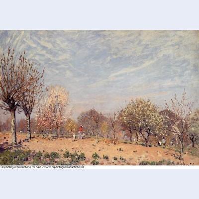 Apple trees in flower spring morning pommiers en fleurs louveciennes 1873