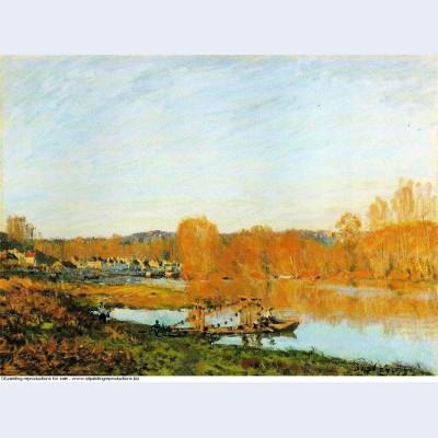 Autumn banks of the seine near bougival 1873