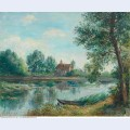 Banks of the loing at saint mammes 1892