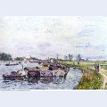 Barges at saint mammes 1885
