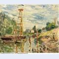 Bateau de charge sur le loing 1880