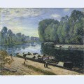 Boats on the loing river 1895