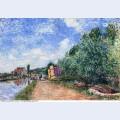 Canal du loing chemin de halage 1882