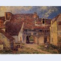 Courtyard of a farm at saint mammes 1884