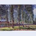 Lane of poplars at moret 1888