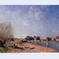 Loing canal at saint mammes 1885