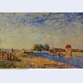 Morning sun saint mammes 1884