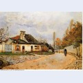Neighborhood street in louveciennes rue de village voisins to louveciennes 1872
