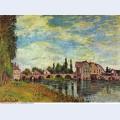 Pont et moulin de moret en ete 1888