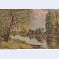 River landscape by moret sur loing