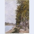 Road along the seine at saint mammes