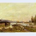 Saint cloud banks of the seine 1879