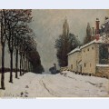 Snow on the road louveciennes chemin de la machine 1874