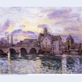 The bridge at moret at sunset 1892