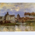 The moret bridge at sunset 1892