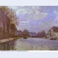 The saint martin canal in paris 1870